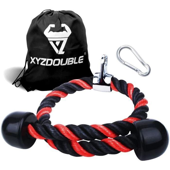 Corde Triceps des Sports Musculation des Triceps Nylon Poignées Antidérapantes de Dorsal, Biceps, Triceps, Gym ou Maison