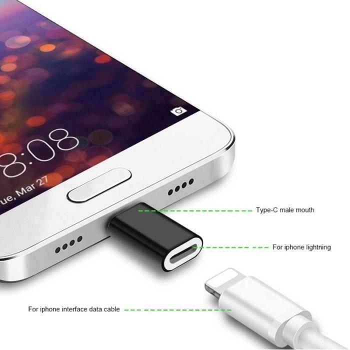 Cabling Adaptateur compatible cable Iphone Lightning femelle Vers Usb C mâle Pour Ipad Watch Iphone Ksd