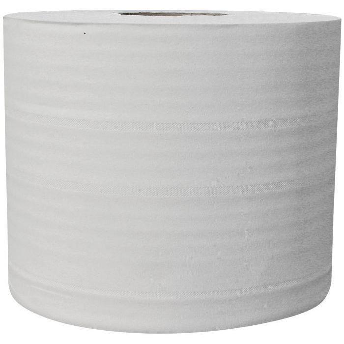 Lot de 2 Essuie-mains blanc pur - Bobine 2 plis - 1000 formats