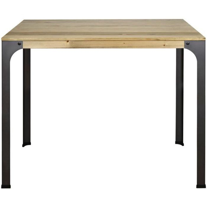 Table Mange debout Bristol 115x59x108cm bois finition vintage style industriel