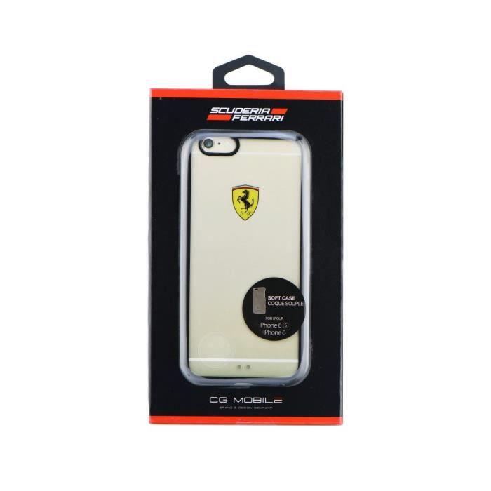 Coque Ferrari FEHCP6BK Transparent iPhone 6 4 7*