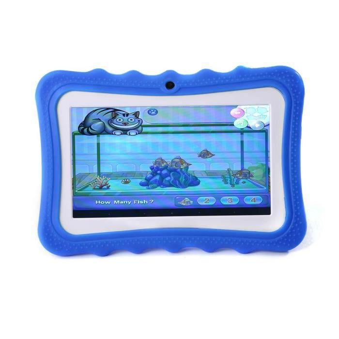 Leegoal Tablette tactile Enfant 7'' Hd Rom 8Go Quad Core Android 4.4 Rose Bleu