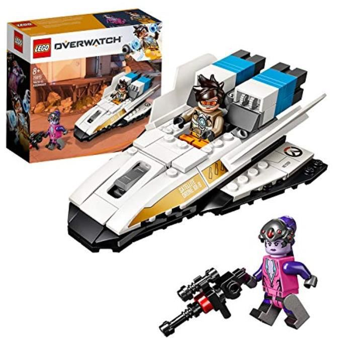 Jeu D'Assemblage LEGO F4MUI 7597 Kit de construction Overwatch Tracer & Widowmaker, multicolore