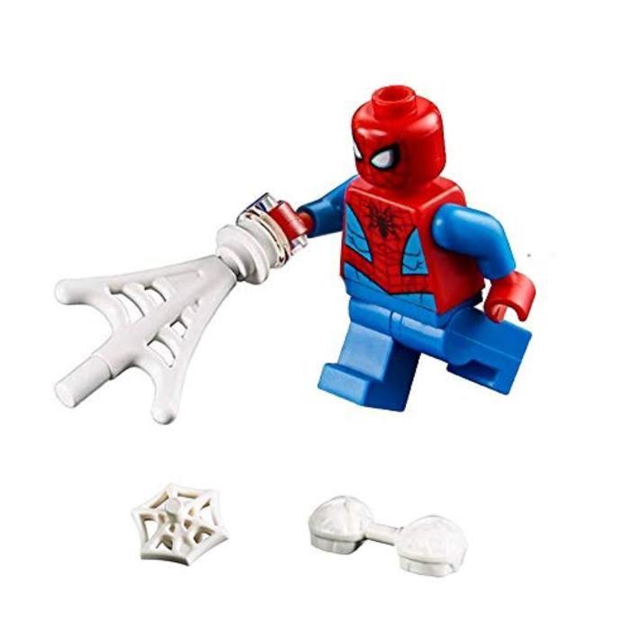 Jeu D'Assemblage LEGO NOXNT Marvel Super Heroes Figurine LOOSE SpiderMan avec toiles