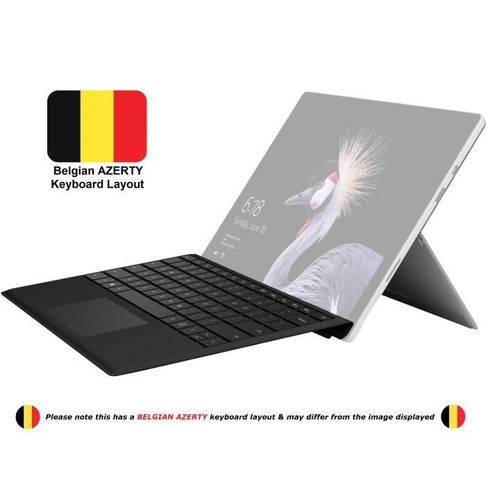 Microsoft Surface Pro 3 avec disposition du clavier belge AZERTY - Noir