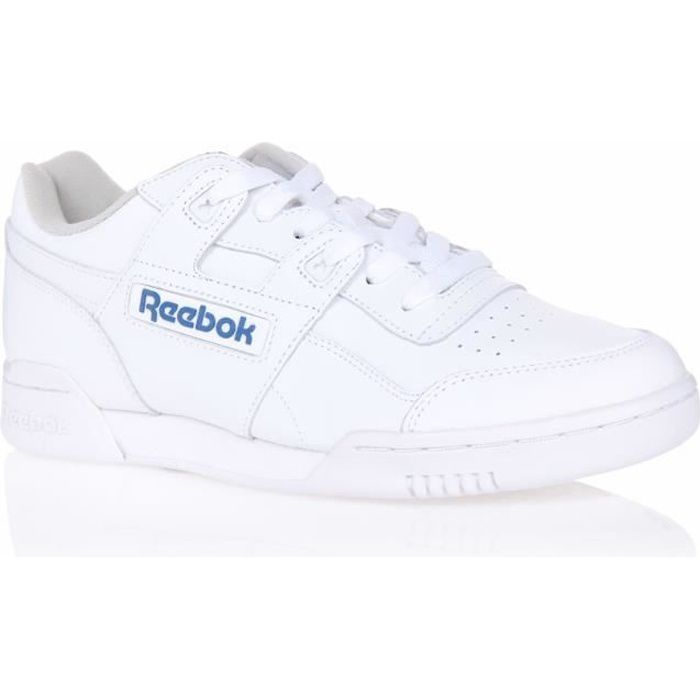 REEBOK Baskets WORKOUT PLUS HOMME BLANC/BLANC