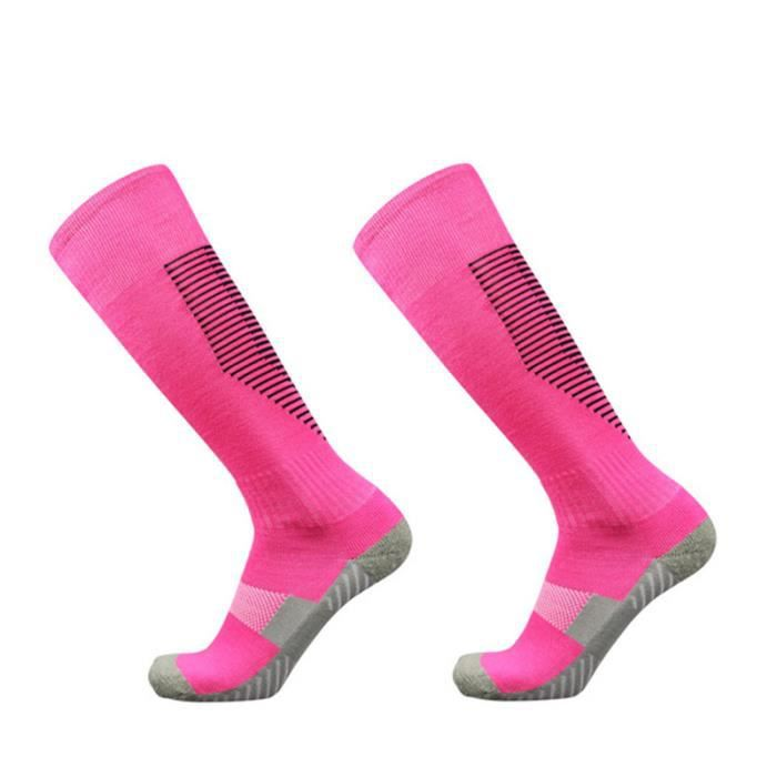 Chaussettes de football pour enfants Rayées Chaussettes Sports pour Football, Basketball antidérapantes pour garçons filles