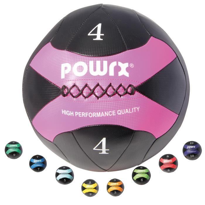 Wall-Ball 2-10kg I balle de balle de médecine en différentes couleurs I Entraînement fonctionnel Poids: 4 kg