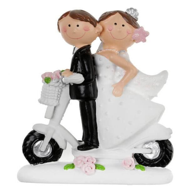 Figurine mariage scooter (x1) REF/5423