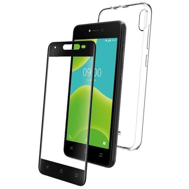 WIKO - PACK COQUE FLEXIBLE + VERRE TREMPE Y50