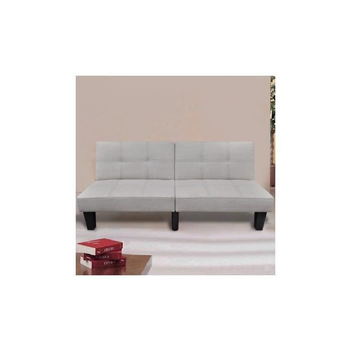canap lit convertible blanc chaud achat vente canap sofa divan cdiscount. Black Bedroom Furniture Sets. Home Design Ideas