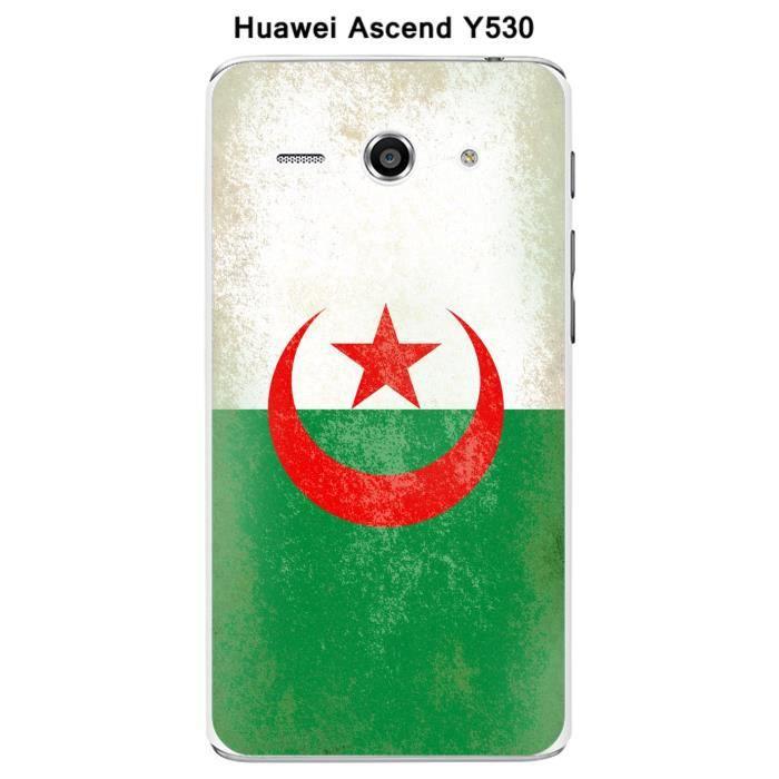 Coque Huawei Ascend Y530 Drapeau Algérie vintage