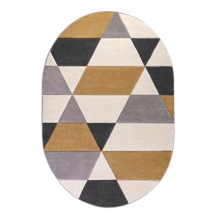 siry tapis de salon scandinave ovale