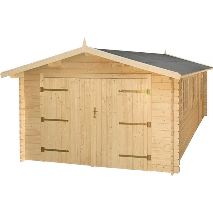 garage en bois surface 19 00 m 34 mm achat vente. Black Bedroom Furniture Sets. Home Design Ideas