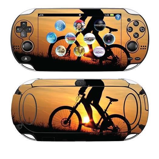 skin stickers pour sony ps vita sticker mountain biker. Black Bedroom Furniture Sets. Home Design Ideas