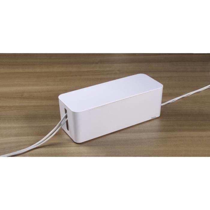 CACHE PRISES - CÂBLES Boîte à câbles Organisateur de câbles Boîte de Ran