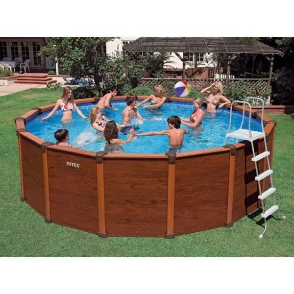 Piscine hors sol aspect bois sequoia spirit int achat for Piscine hors sol sequoia spirit intex