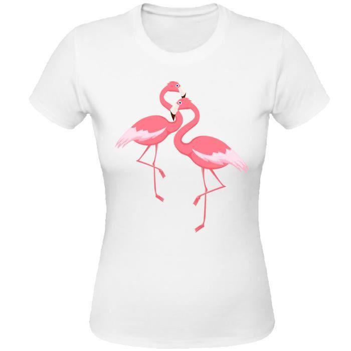 sweat shirt femme flamant rose