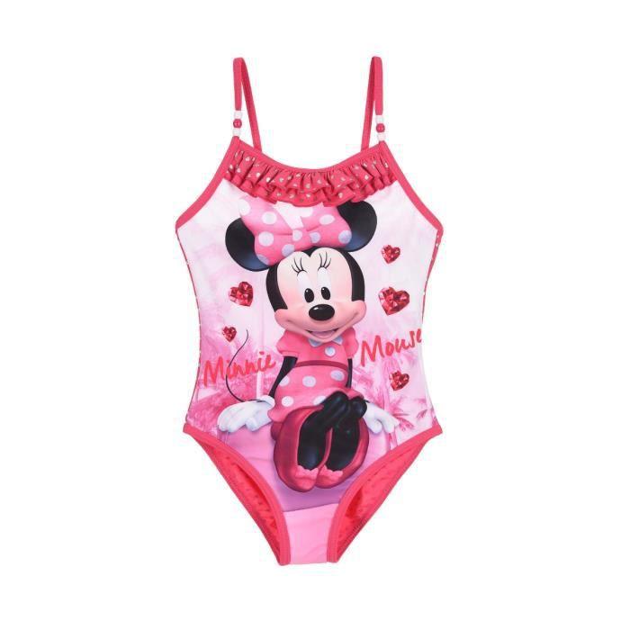 Maillot De Bain 1 Pi/èce B/éb/é Fille Minnie Mouse