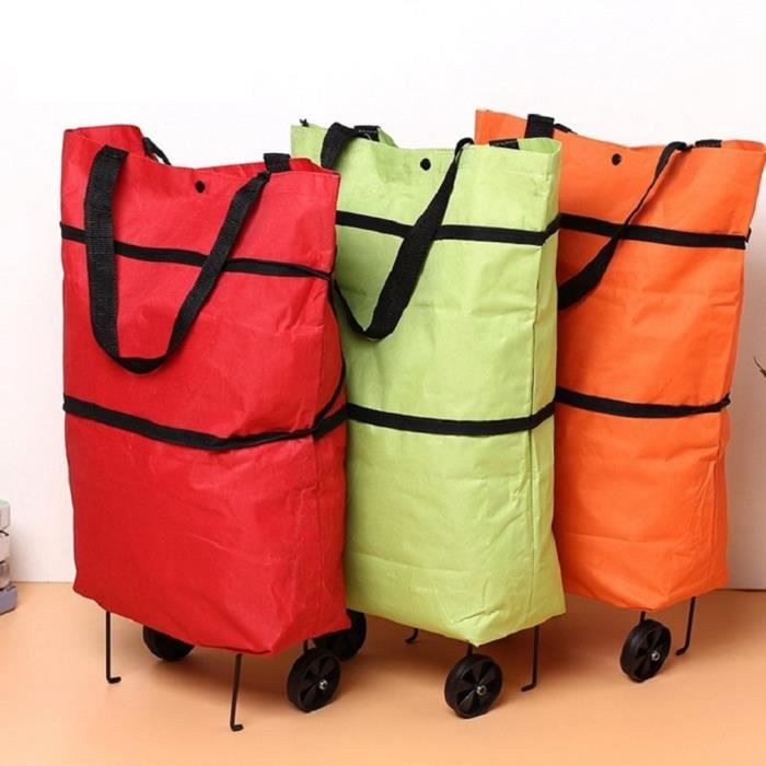 PAKABAG Léger 2 roues Pliable Shopping Trolley grand modèle cabas panier