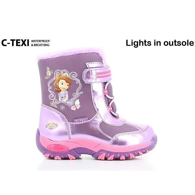 princess sofia bottes de neige chaussures b b et enfant fille violet achat vente botte. Black Bedroom Furniture Sets. Home Design Ideas