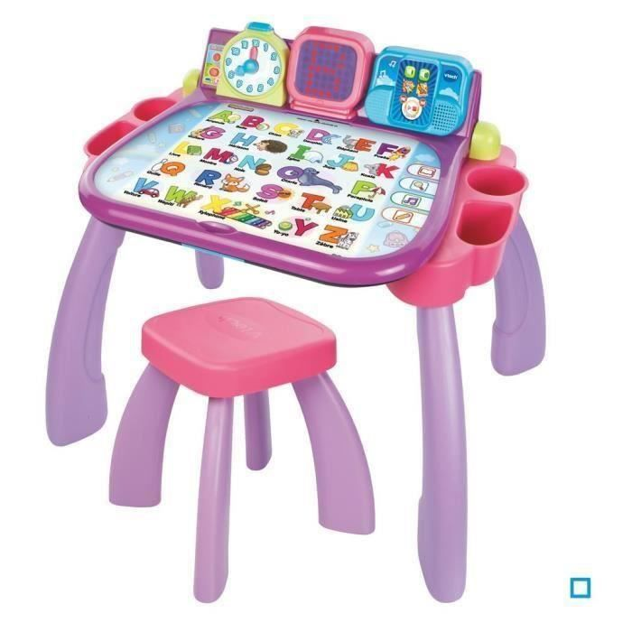 vtech magi bureau interactif 3 en 1 rose achat vente table jouet d 39 activit cdiscount. Black Bedroom Furniture Sets. Home Design Ideas