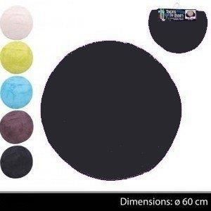 tapis de salle de bain rond achat vente pas cher. Black Bedroom Furniture Sets. Home Design Ideas