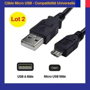 CÂBLE RÉSEAU  Lite-an Cable de charge Micro USB vers USB 2.0 [3M