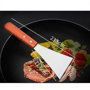 PELLE HEAN Manche en bois acier inoxydable Barbecue Stea