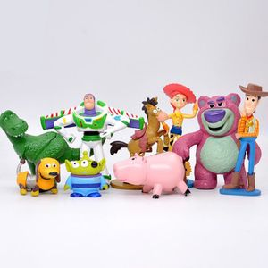 FIGURINE - PERSONNAGE 9 pcs Toy Story Figurine personnage Buzz Lightyear