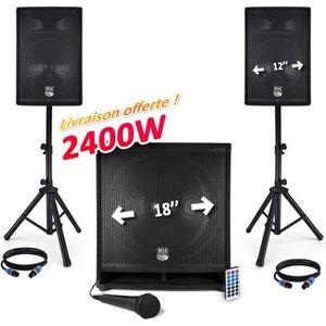 PACK SONO Pack sono - BM SONIC 1812 MKII 2400W USB/BT - 2 En