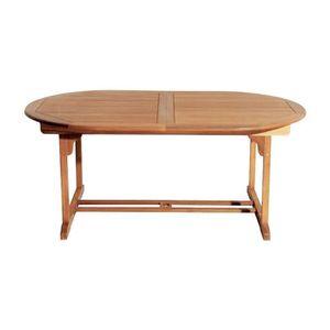 Table de jardin ovale bois 4/6 places - Achat / Vente table ...