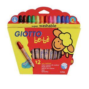 CRAYON DE COULEUR be-bé 12 maxi crayons de couleurs