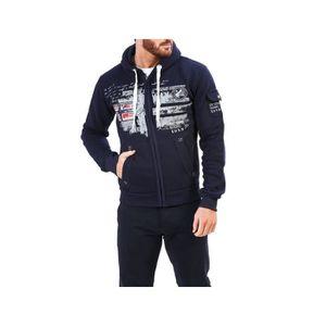 Geographical Norway Hommes Pull Pull Sweatshirt Sweater Hoodie Hoody Capuche