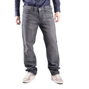 JEANS 7 FOR ALL MANKIND HOMME MCBI13925 GRIS COTON JEANS