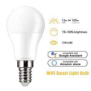 AMPOULE INTELLIGENTE WiFi Smart LED Ampoule marche Assistant Google Ass