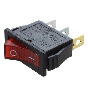 Heschen ronde Interrupteur /à bascule ON//OFF Spst 3/bornes 24/V lumi/ère rouge 6/A 250/VAC Lot de 5