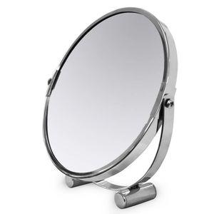 MIROIR SALLE DE BAIN Tatkraft Eos Miroir de Table Compact Double Face D