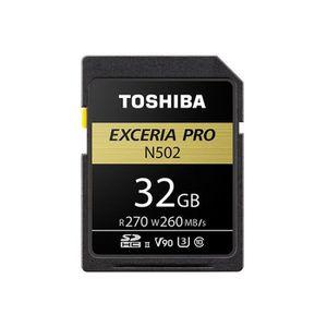 CARTE MÉMOIRE Carte Mémoire SD 32 Go TOSHIBA EXCERIA Pro N502 27
