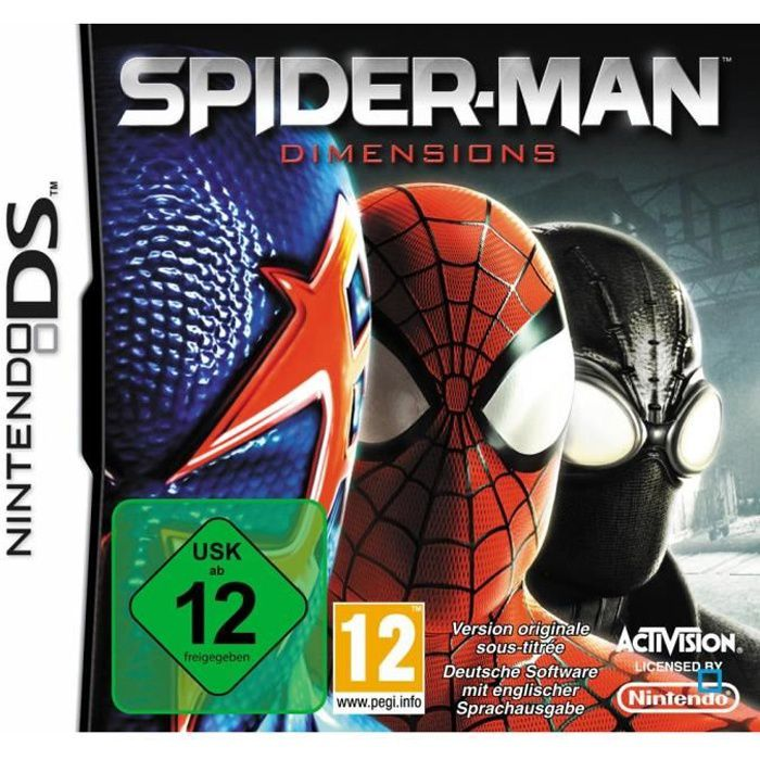 JEU DS - DSI SPIDERMAN DIMENSIONS / Jeu console DS
