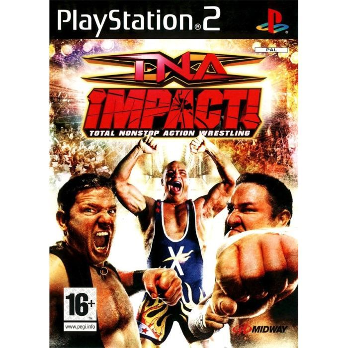 JEU PS2 TNA IMPACT ! TOTAL NONSTOP ACTION WRESTLING / JEU