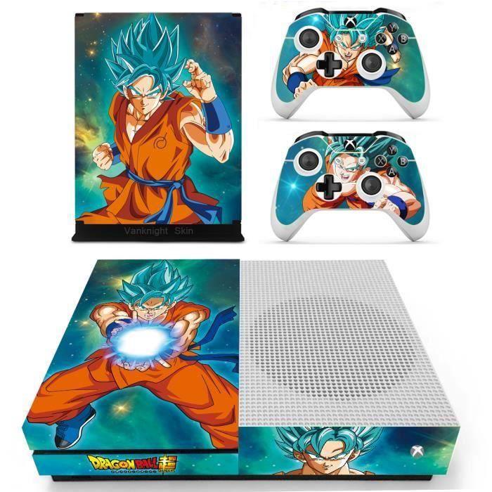 Aihontai Anime Dragon Ball Z Fils Goku Xbox One S Slim Console Stickers peau de vinyle autocollants couvre WZ183