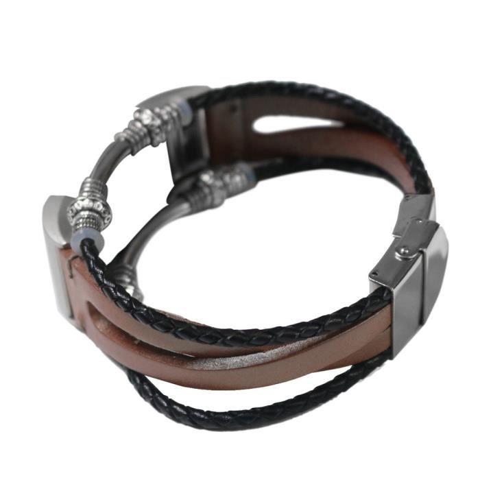 bracelet de montre vendu seul Bracelet en cuir de remplacement pour bracelet Fitbit Charge 2 RG TZZ80727665RG_non