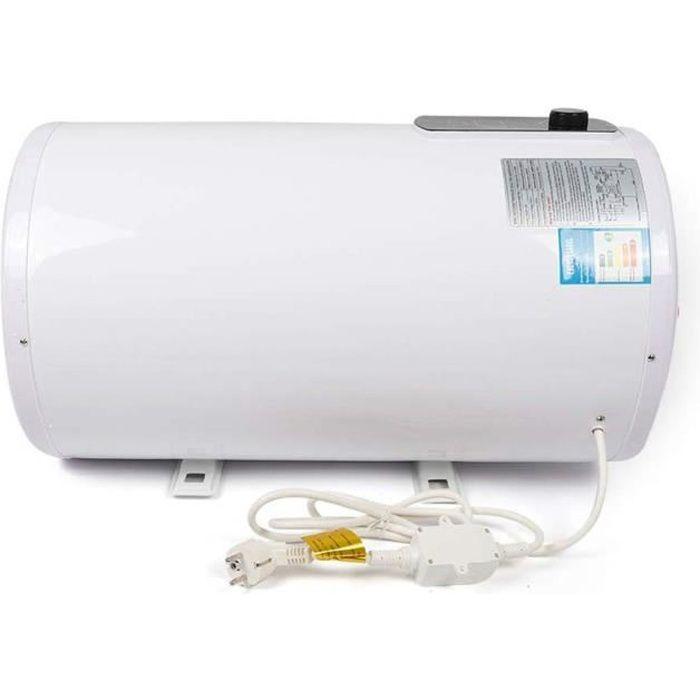 Chauffe-eau Electrique 2000W Ballon d'eau Chaude Electrique 220V 0.7 MPa Chauffe-eau de Bain IPX4 avec LED Ecran (100L)