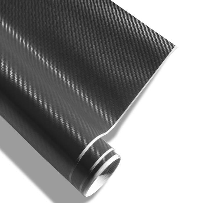 Film carbone noir 152 x 200 cm, structure 3D, a…