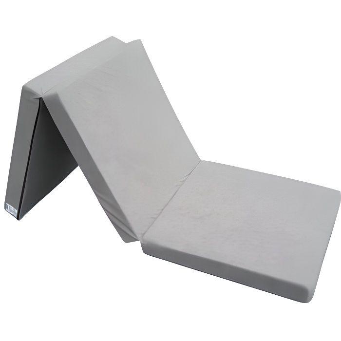 Matelas d'appoint pliant 198 x 80 x 10 cm - choix des couleurs (gris)