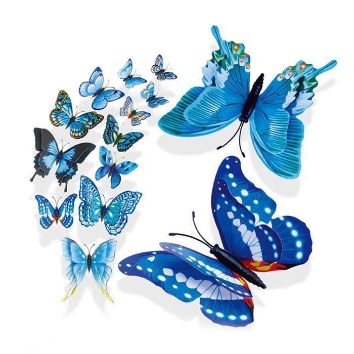 objet décoratif 3D DIY Type Pin Home Décor papillon robe rideau Décore accessoiresWLL80821021BUSAN1719 Ve18803