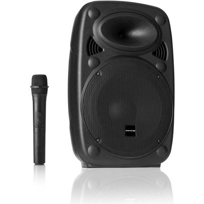 Auna Pro Streetstar 8 Système sono mobile enceinte 200W - subwoofer 8- - USB MP3 SD AUX FM + 2 micros