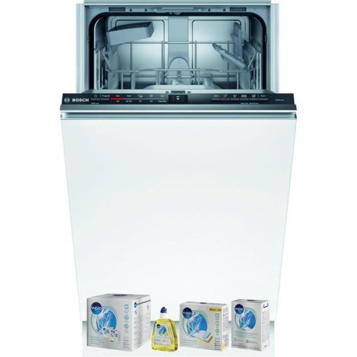 BOSCH Lave-vaisselle tout intégrable encastrable 48dB 9 couverts 45cm EcoSilence Wi-fi 81 Classe énergétique :