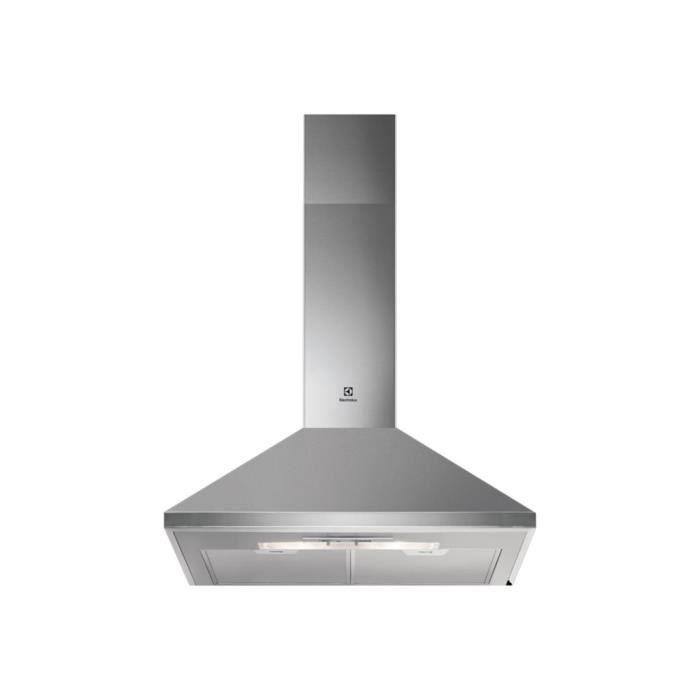 Electrolux EFC60151X Hotte hotte décorative largeur : 59.6 cm profondeur : 47.1 cm extraction et recirculation (avec kit de…